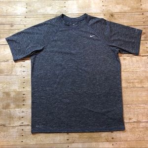 Men's Nike Dri-Fit UPF 40+ Blue Heather T-Shirts